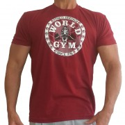 W155 World Gym musculation t-shirt logo de cercle