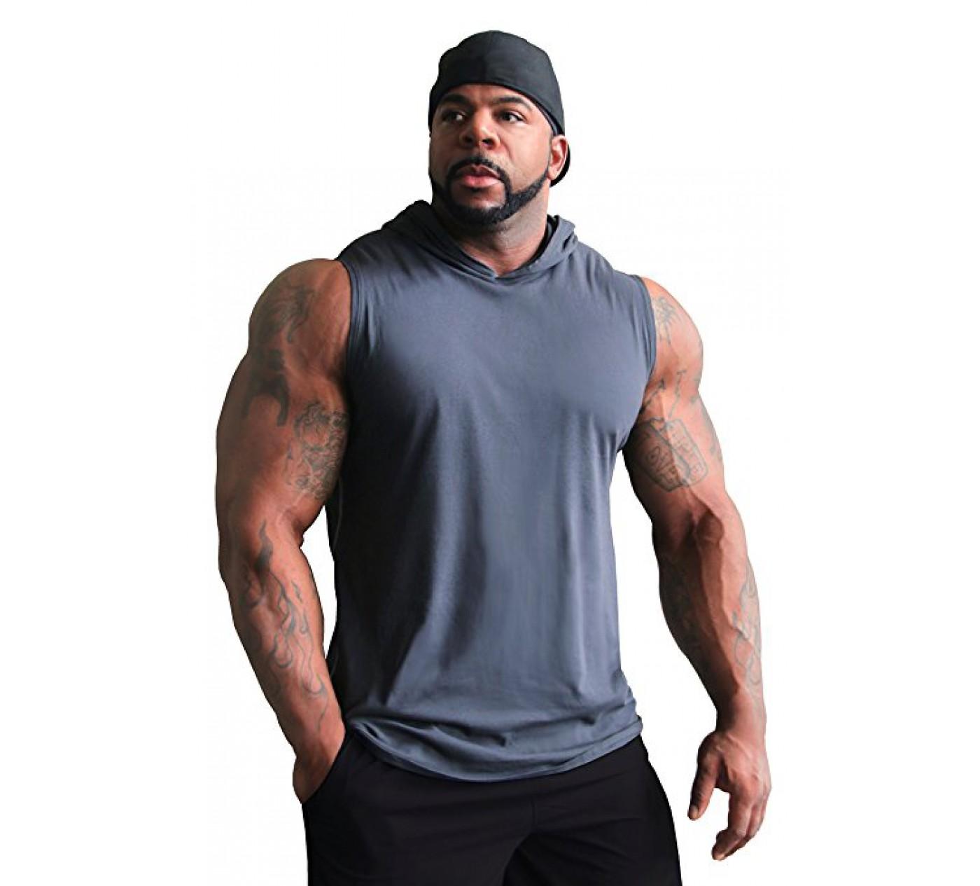 C444 Verrückte tragen Muscle Top 3/4 Ärmel