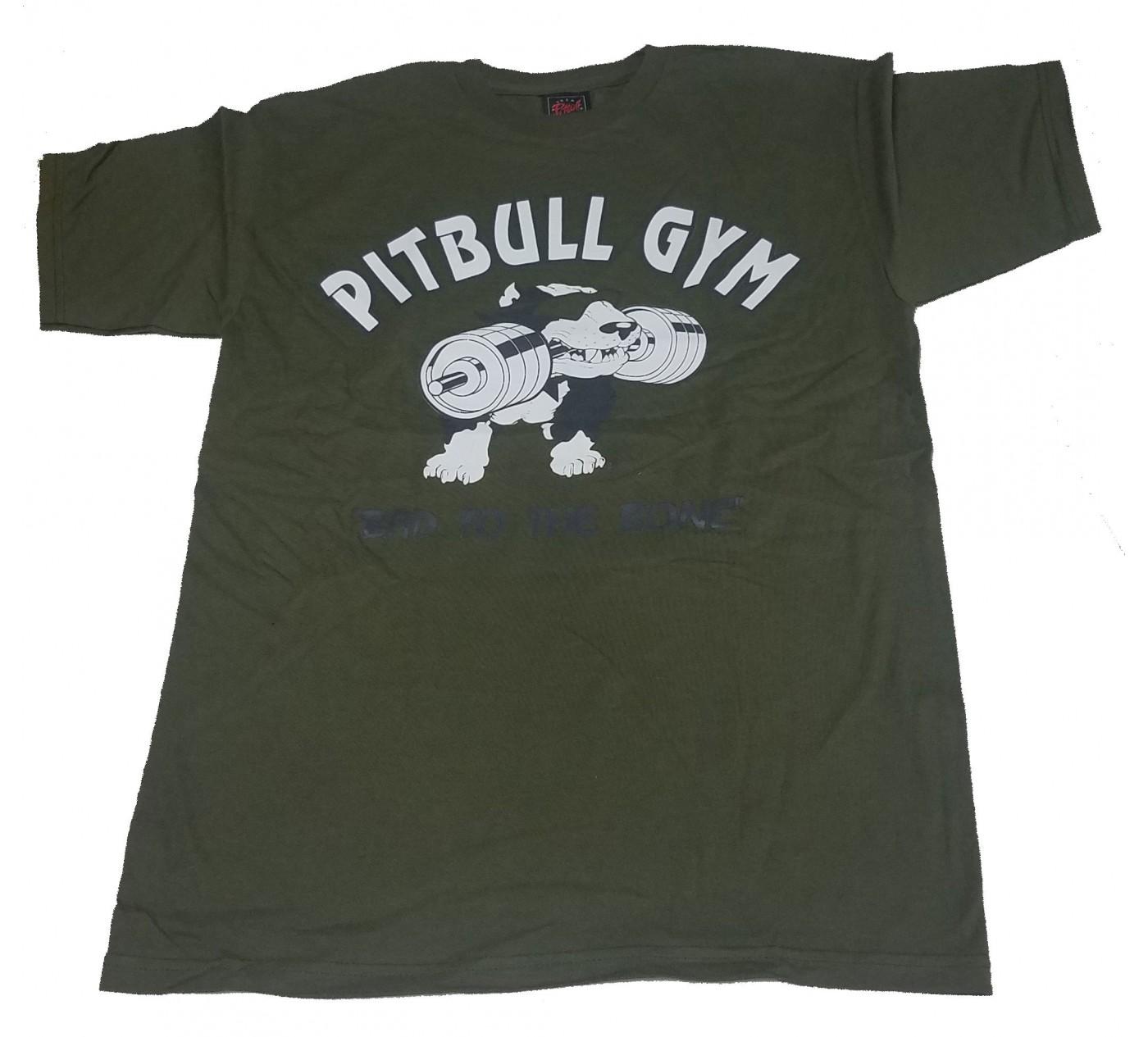 Pitbull Logo Army Shirt