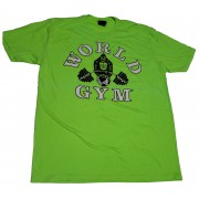 CLOSEOUT -W-015 World Gym T-shirt Black Fitness Heritage