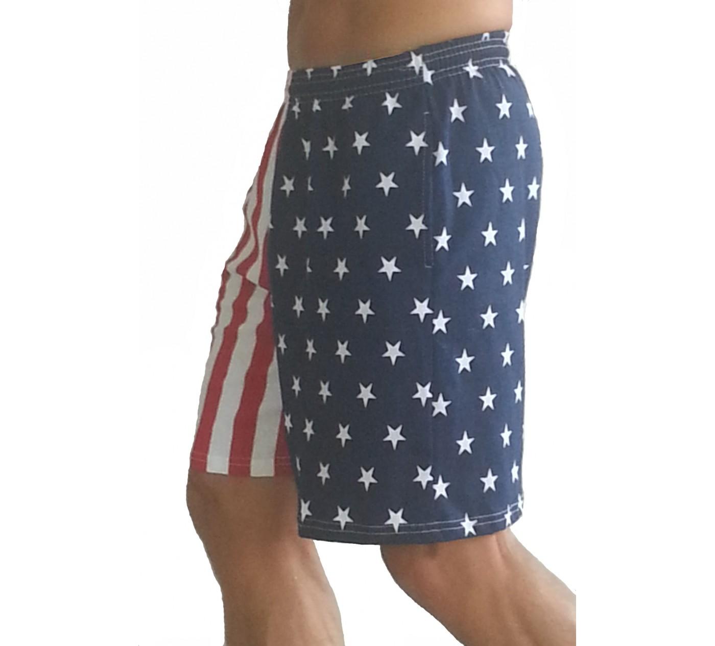 Bandeira F600 Shorts na bandeira americana curto Pattern