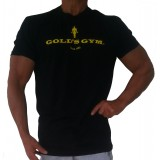 G114 Golds Gym Muscle Shirt with oscar icon and text name