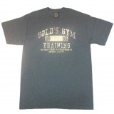 G143 Golds Gym T Shirt Training logo