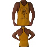 G316 Golds Gym Workout Tank Top ringer style with oscar icon