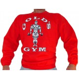 G801 Golds Gym Bodybuilder Sweatshirt TO logo