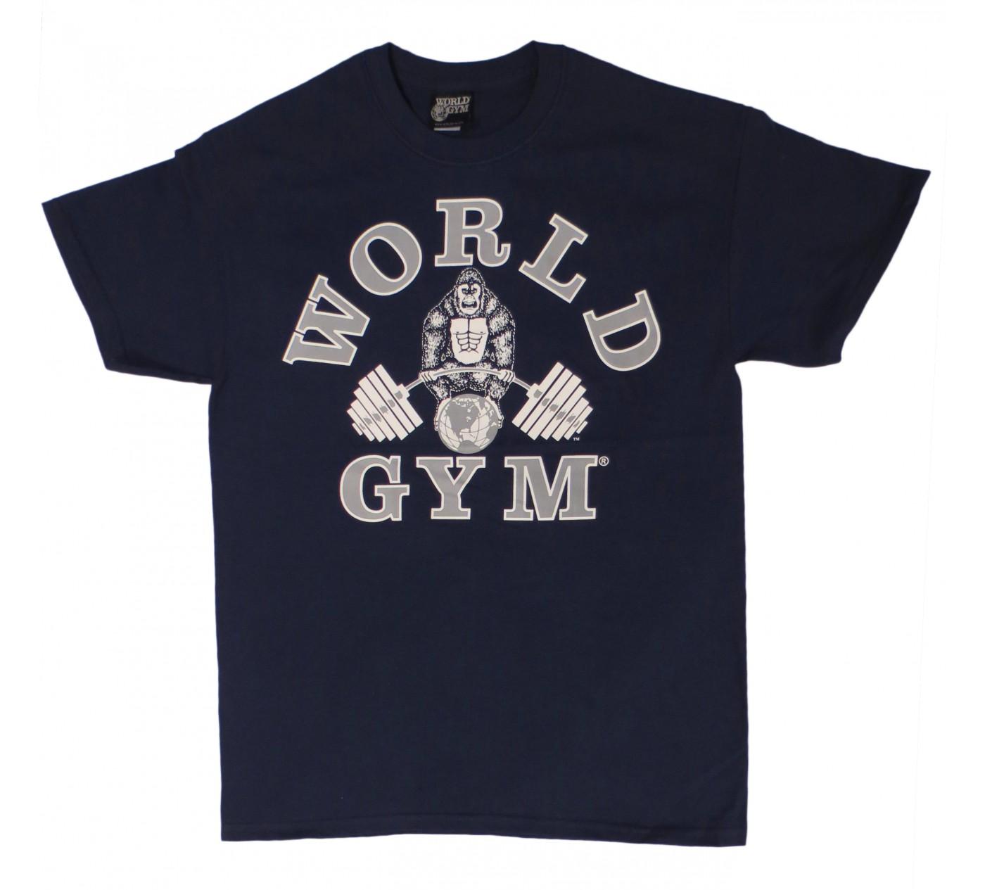 W101 World Gym Bodybuilding T Shirt