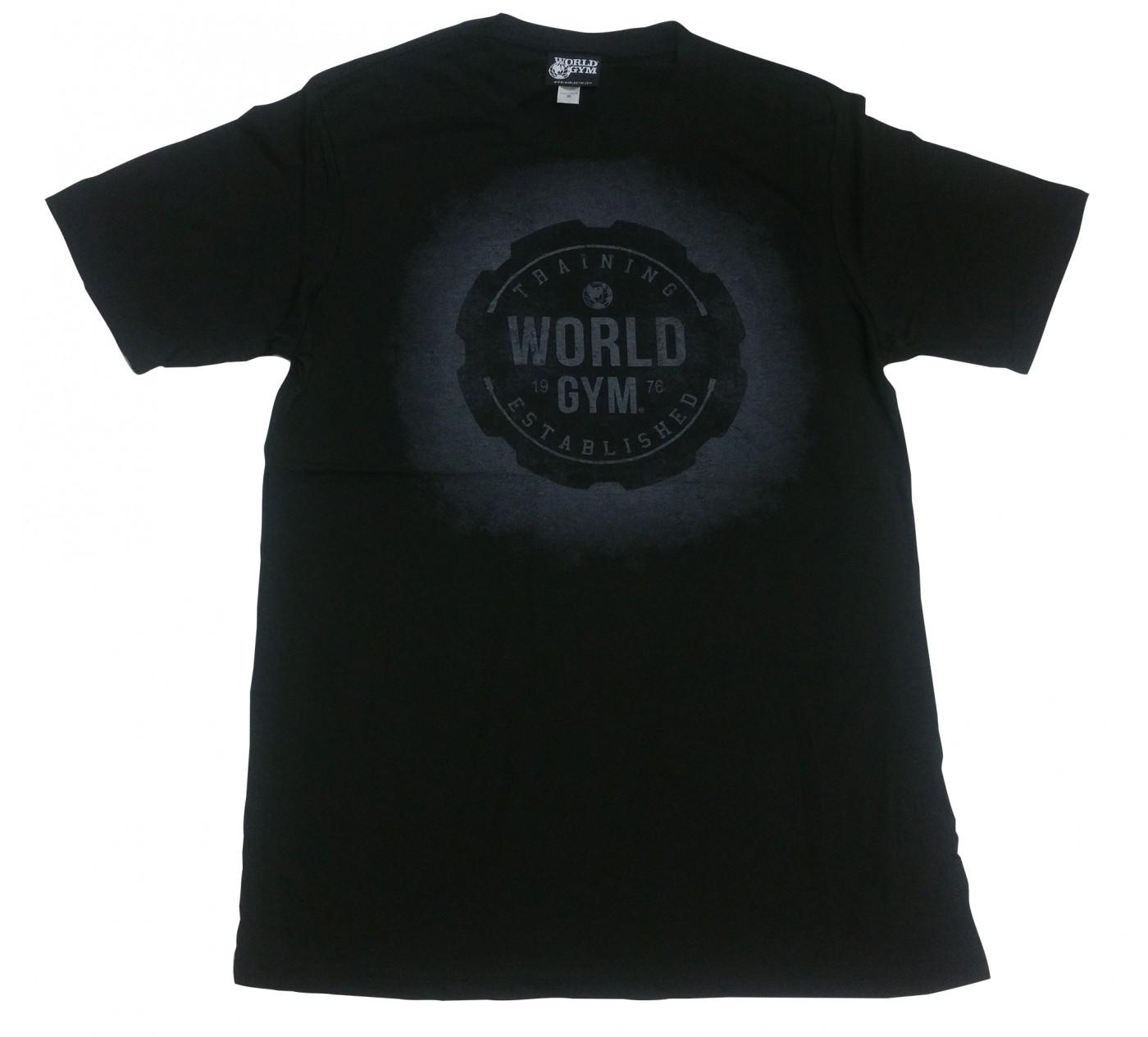 W110ワールドジムマッスルシャツバーンアウトTシャツ