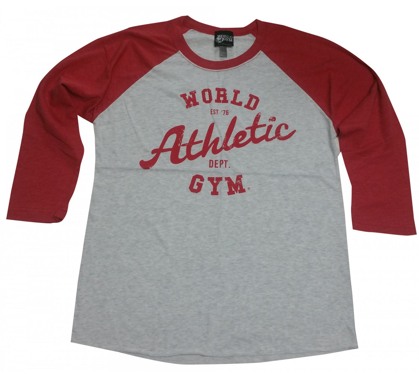 World Gym Muscle Shirt Hosszú ujjú Baseball World Athletic Dept