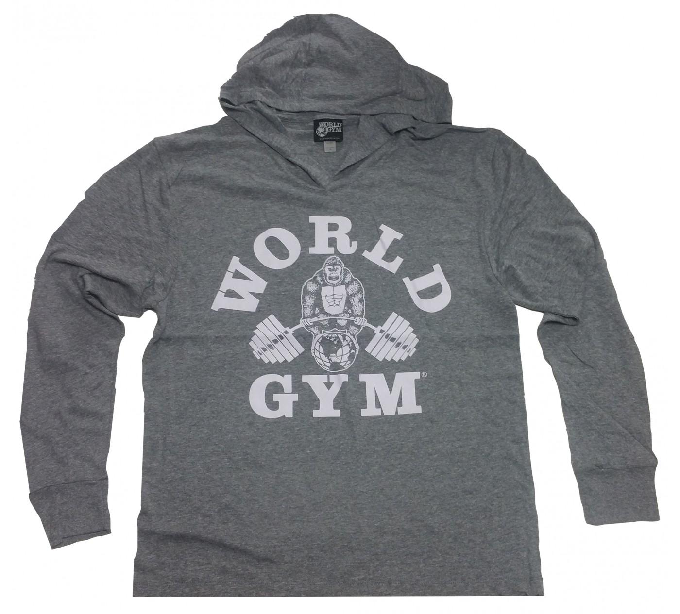 W860 Zip muscolare con cappuccio World Gym logo