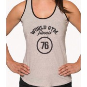 World Gym Womens Workout Ringer Tank Top