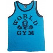 World Gym Mens Tank Top Heather Ringer