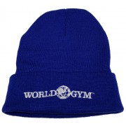 World Gym Logo Long Beanie Cap